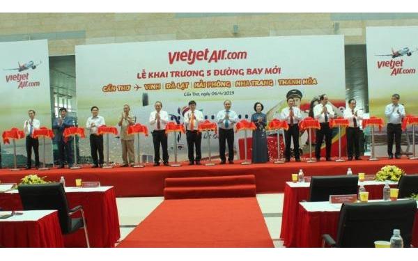 VietJet Air đưa 5 đường bay mới từ Cần Thơ vào khai thác vào ngày 26/4