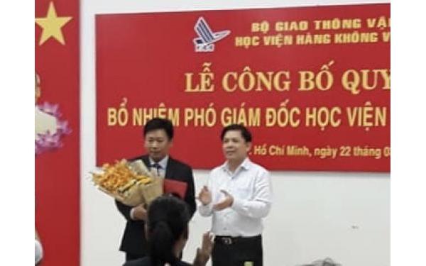 Lễ công bố quyết định Phó giám đốc Học viện Hàng Không Việt Nam