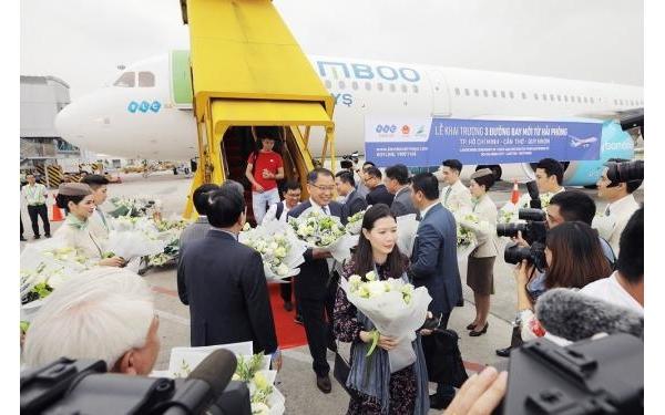 Bamboo Airways chính thức khai trương 3 đường bay mới từ Hải Phòng