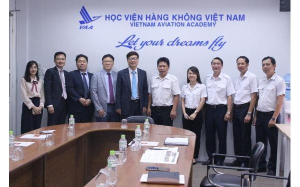 Học viện Hàng không Việt Nam làm việc với Đại học Dongguk (Hàn Quốc)