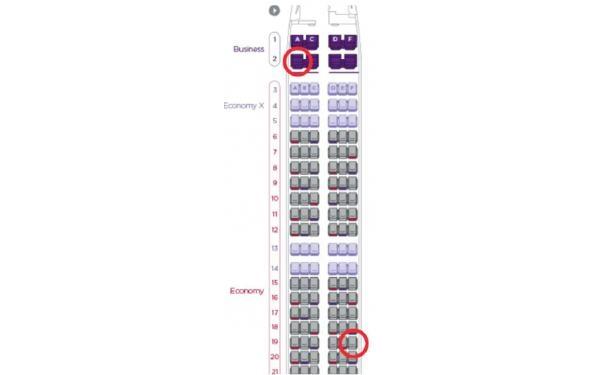 Lý do ghế 19F và 2A trên máy bay được khách đặt nhiều nhất