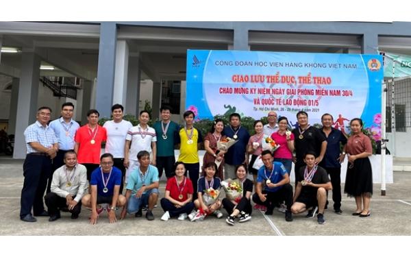 Hội thao Công đoàn Học viện Hàng không Việt Nam kỷ niệm 46 năm ngày Thống nhất Đất nước (30/4/1975-30/4/2021) và ngày Quốc tế Lao động 1/5